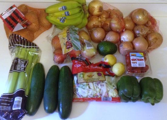 100 Budget Weekly Menu for 5 - Nov 6 -- Aldi Produce -- The Peaceful Mom