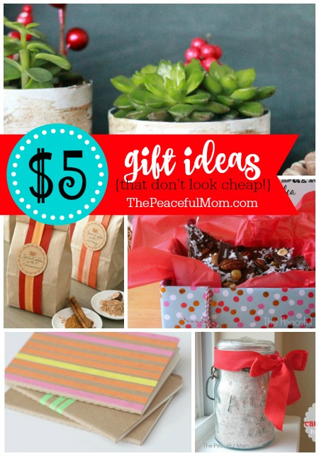 17 $5 Gift Ideas That Don't Look Cheap -- from The Peaceful Mom