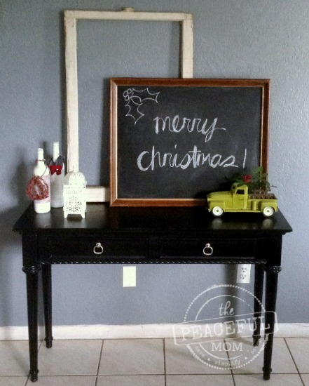 Budget Christmas Decor -- Thrift Store Finds -- The Peaceful Mom