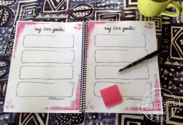 How to Set Good Goals for 2016 -- Joyful Life Planner -- The Peaceful Mom