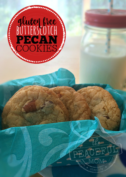 Gluten Free Butterscotch Pecan Cookies -- SO Scrumptious -- The Peaceful Mom --