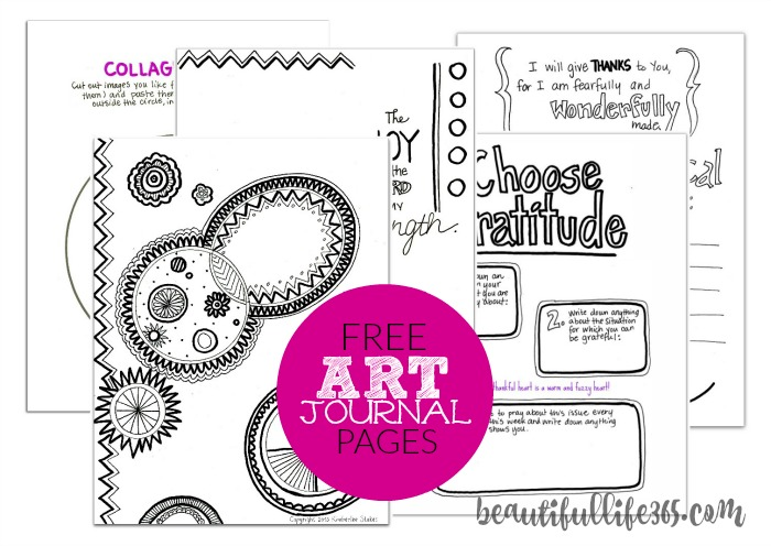 Grab 5 FREE DIY Art Journal Pages -- from Beautiful Life 365