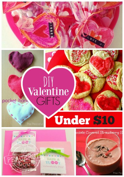 DIY Valentine's Gifts for Under $10 -- The Peaceful Mom