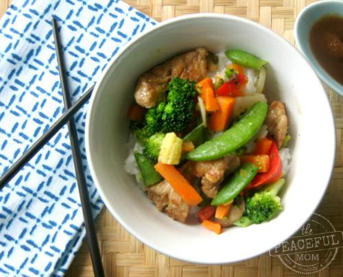 Easy Chicken Stir Fry Recipe 1 -- The Peaceful Mom