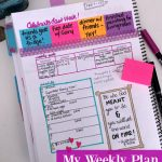 Get Organized -- My Weekly Plan - Feb 7 -- The Peaceful Mom
