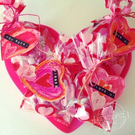 Valentine Treat Bags -- The Peaceful Mom