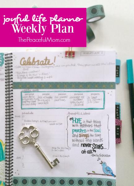 Joyful Life Planner Weekly Plan 2016-03-27 -- The Peaceful Mom 1
