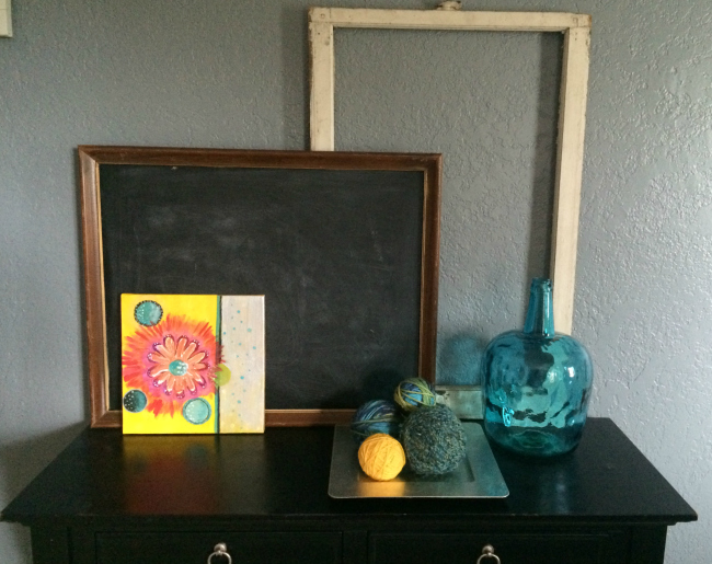 30 Days to Organized - Living Room After Entry Way Table