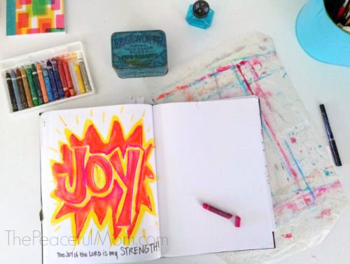 Use Art Journaling to Relieve Stress -- The Peaceful Mom