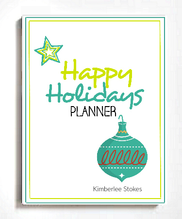 2016 Happy Holidays Planner 3D Cover 375 -- The Peaceful Mom