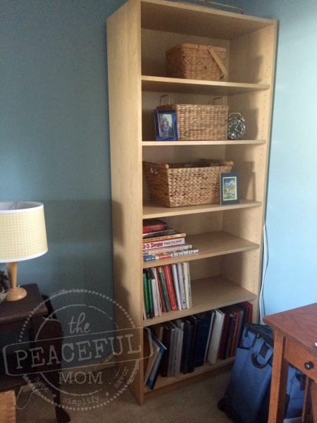 31 Day Decluttering Challenge -- Office After -- The Peaceful Mom