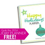 Free Happy Holidays Planner -- The Peaceful Mom