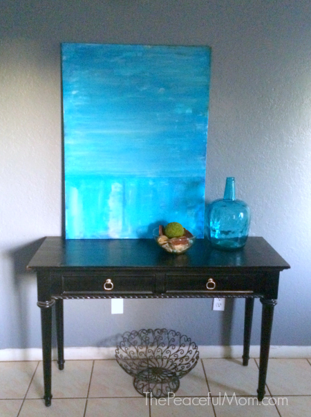 Living Room Entryway Table Fall 2016 -- The Peaceful Mom