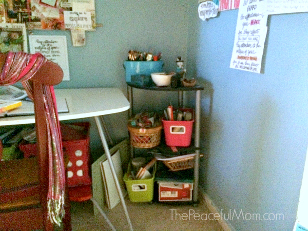 Office Creative Space Storage 1 -- The Peaceful Mom