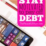 How we stay motivated to pay off debt -- The Peaceful Mom