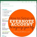 How to Sign Up For Evernote -- ThePeacefulMom.com
