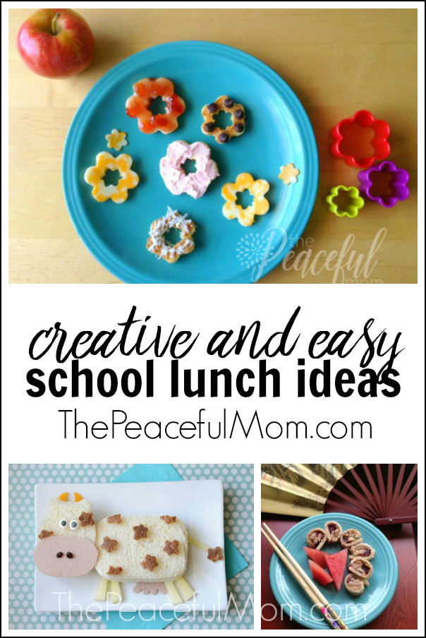 school lunch ideas for kids from The Peaceful Mom