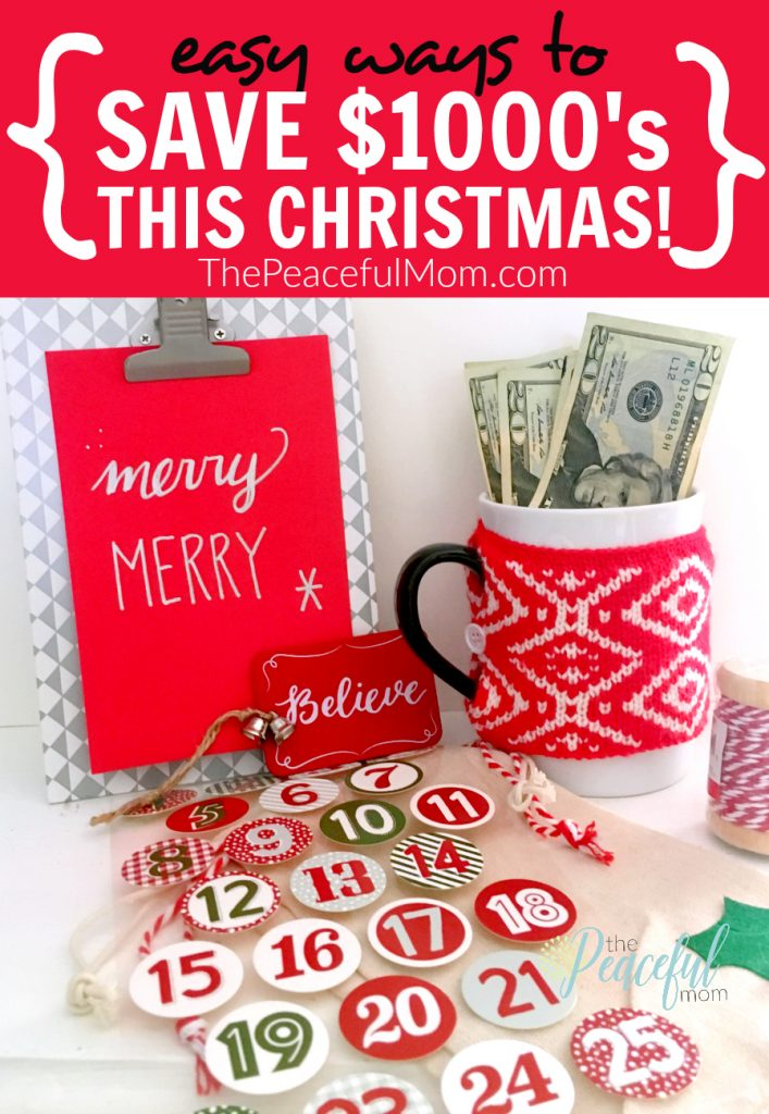 How to Save Money This Christmas -- The Peaceful Mom