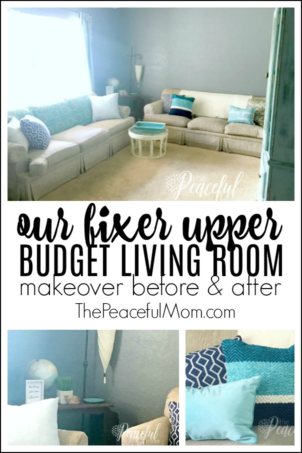 Fixer Upper Budget Living Room Makeover The Peaceful Mom