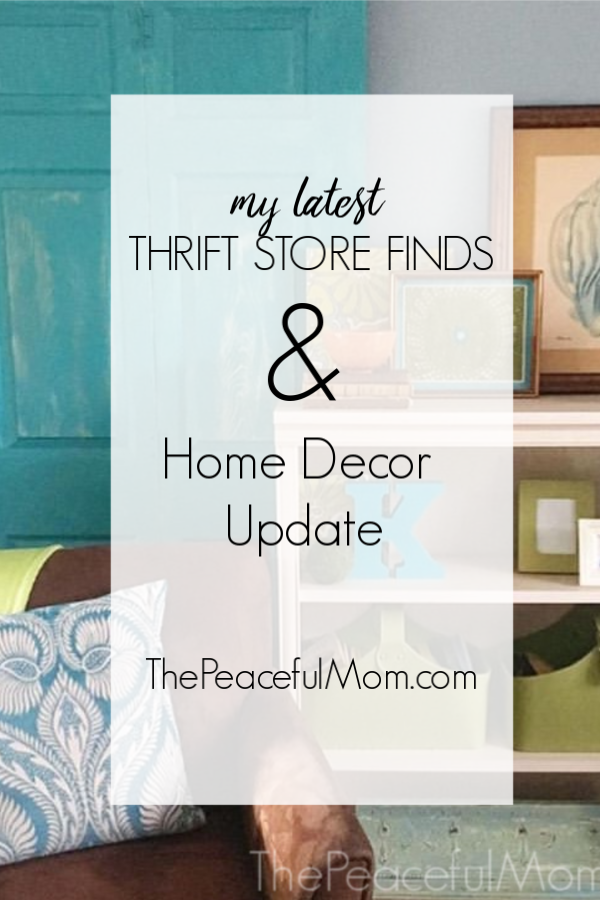 Low cost home decor and thrift store finds -- The Peaceful Mom