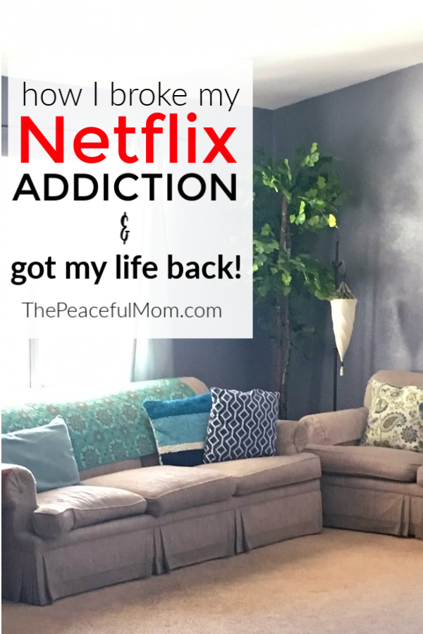 binge watching tv - why I stopped from ThePeacefulMom.com
